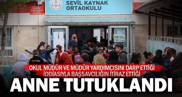 Okul yöneticilerini darbeden 3 kişiden anneye tutuklama