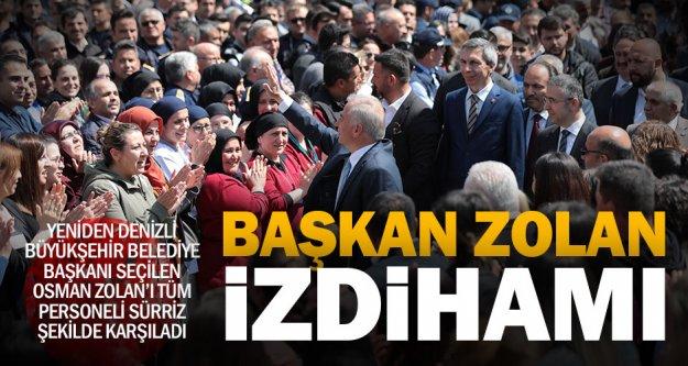 Personelinin sürpriz yaptığı Başkan Zolan: 'Birlikte başardık'