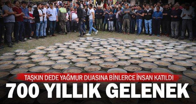 Taşkın Dede'de Yağmur Duası için, kurbanlar kesildi, dualar edildi
