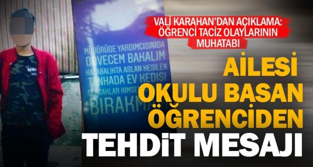 Vali Karahan'dan okulda şiddet açıklaması