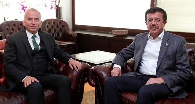 Zeybekci'den Başkan Osman Zolan'a Ziyaret
