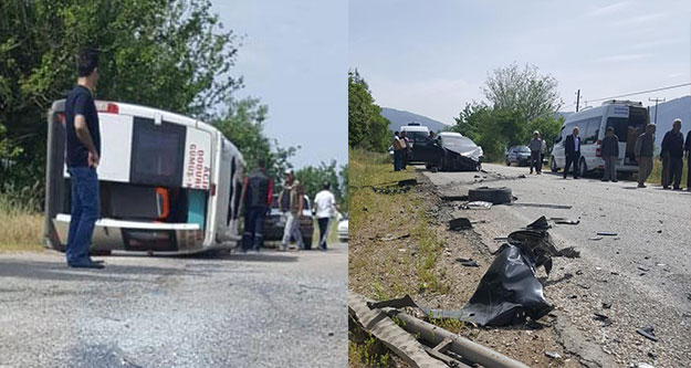 3 aracın karıştığı zincirleme kaza: 7 yaralı