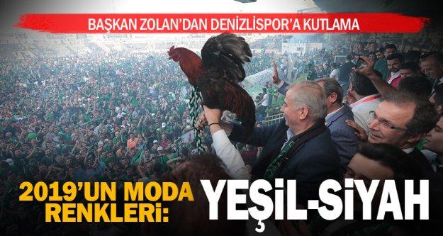 Başkan Zolan'dan, 'Denizli'nin en büyük markası' dediği Denizlispor'a kutlama