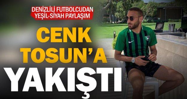 Denizlili futbolcu Cenk Tosun'dan Denizlispor'a kutlama