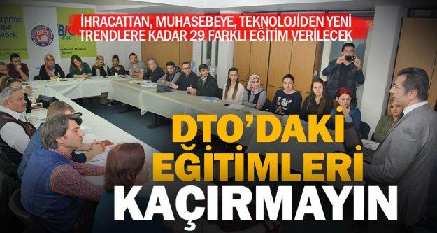 DTO, 12 ayda 29 farklı eğitim verecek