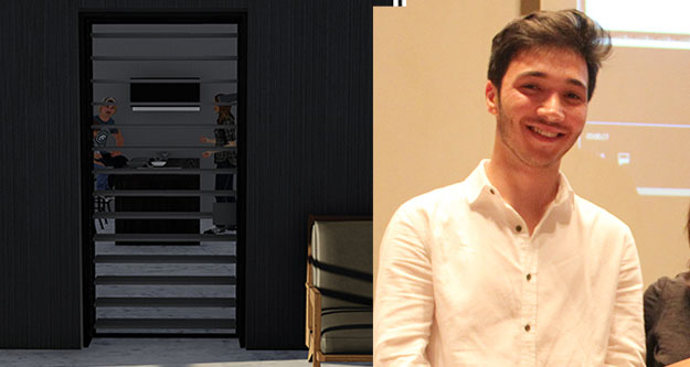 PAÜ öğrencisinin kapı tasarımı üçüncü oldu