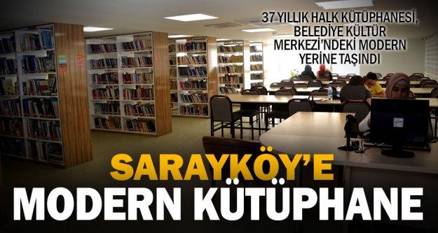 Sarayköy kütüphanesine modern bina