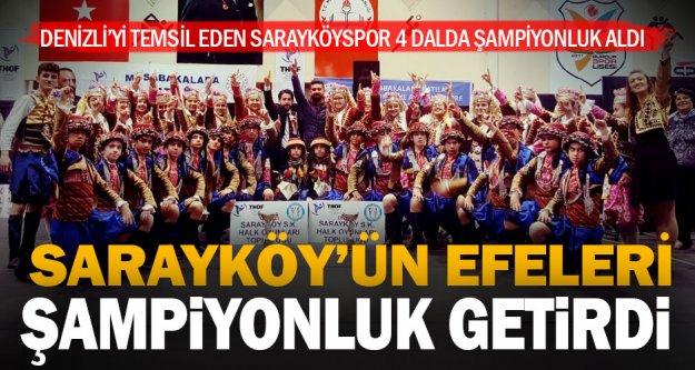 Sarayköy'ün efeleri ve yarenleri Denizli'ye şampiyonluk getirdi