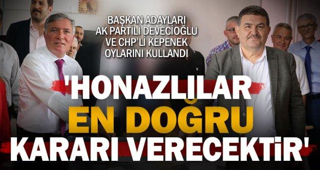 Ak Parti ve CHP'nin adayları oylarını kullandı