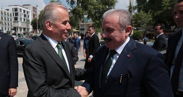 TBMM Başkanı Şentop, Vali Karahan ve Başkan Zolan'ı ziyaret etti