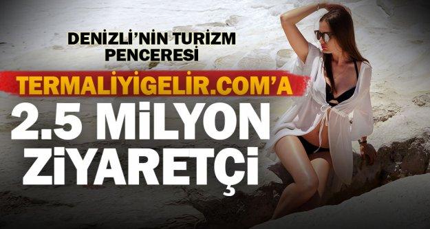 Denizli'nin turizm penceresi Termaliyigelir.com 2,5 milyon ziyaretçi aldı
