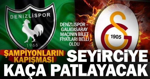 Denizlispor – Galatasaray maçı bilet fiyatları belli oldu
