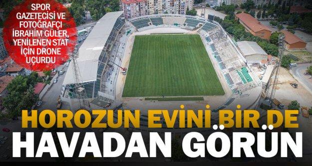 Yenilenen Atatürk Stadı'nın havadan görüntüleri