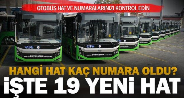 Büyükşehir, yenilenen otobüs numara ve hatları ile ilgili duyuru yaptı