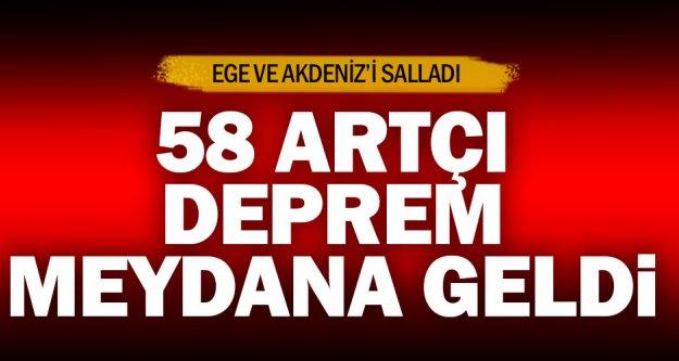 Denizli merkezli 6,0 büyüklüğündeki deprem, Ege ve Akdeniz'i salladı : 58 ARTÇI DEPREM