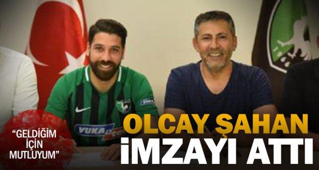 Denizlispor'da Olcay Şahan imzayı attı
