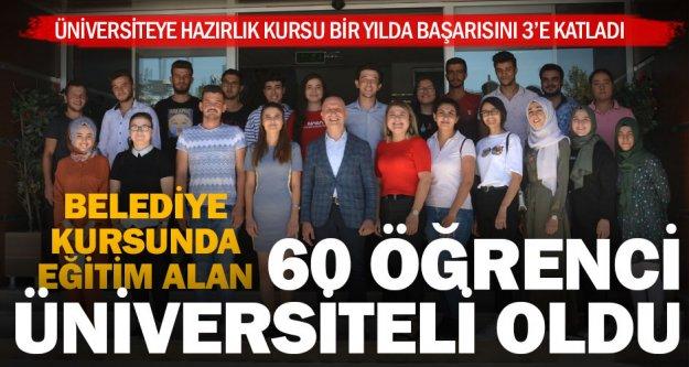 Sarayköy'de hazırlık kurslarına katılan 60 öğrenci üniversiteli oldu