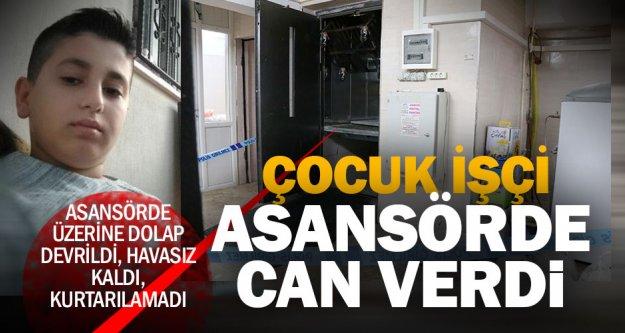 Asansörün içinde üzerine tepsi dolabı devrilen çocuk, öldü