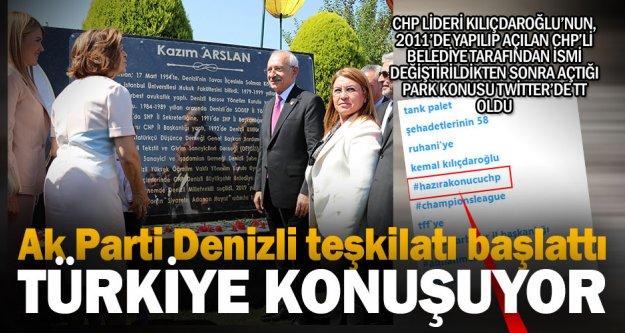 CHP Lideri Kılıçdaroğlu'nun 8 yıl önce açılışı yapılan parkı tekrar açması Türkiye gündeminde