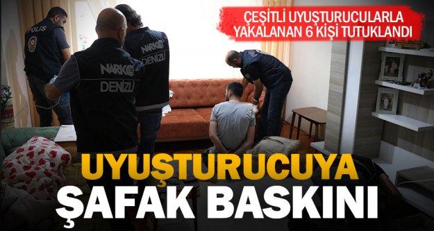 Denizli'de, şafak vakti uyuşturucu operasyonu: 6 tutuklama
