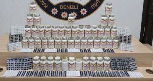 Denizli polisinden tarihi eser ve kaçak ürün operasyonu