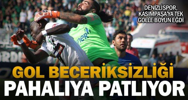 Denizlispor, gol atmayı beceremeyince Kasımpaşa'ya yenildi
