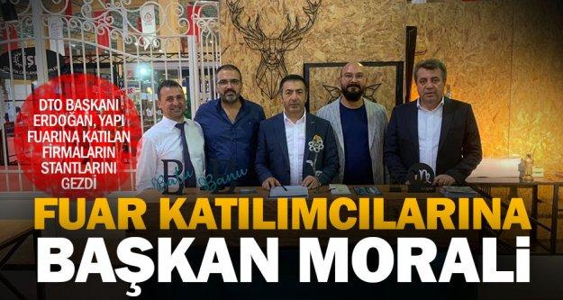 DTO Başkanı Erdoğan, fuarın son gününde firmaları yalnız bırakmadı
