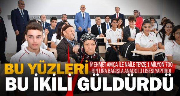 Hayırsever Naile-Mehmet Uyanık'ın 1.7 milyon lira bağışla yaptırdığı Anadolu Lisesi açıldı