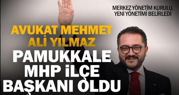 Mehmet Ali Yılmaz MHP Pamukkale İlçe Başkanı oldu