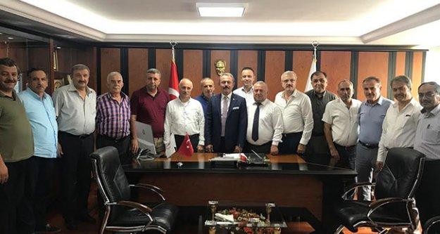 Milletvekili Tin, esnaf odası başkanlarıyla buluştu