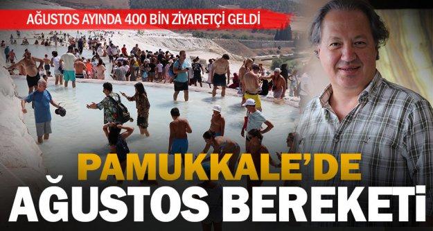 Pamukkale'ye ağustos ayında 400 bin ziyaretçi geldi
