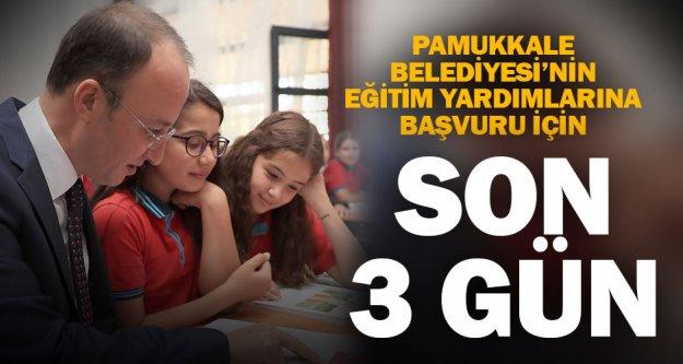 Pamukkale'de eğitim yardımı başvurularında son gün 20 Eylül