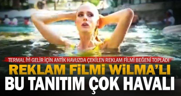 Antik havuzda Wilma Elles'li Denizli tanıtımı