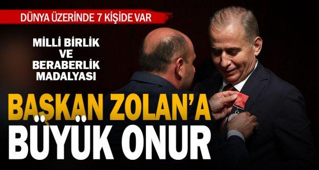Başkan Osman Zolan'a büyük onur