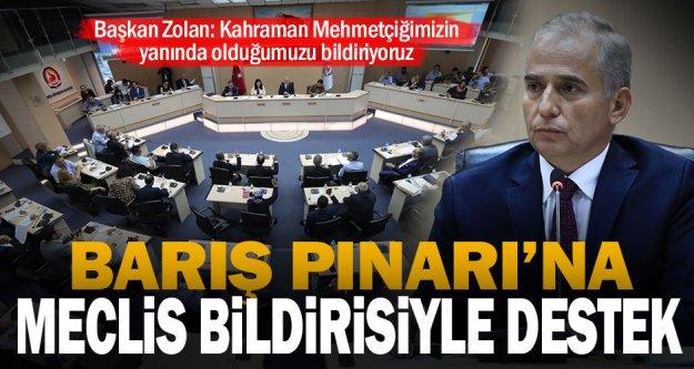 Büyükşehir Meclisi'nden Barış Pınarı Harekatı'na destek bildirisi