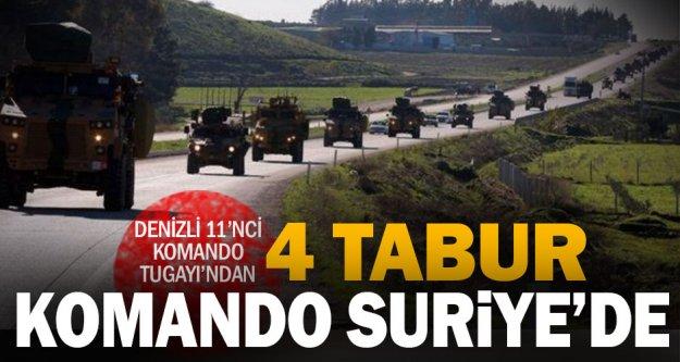 Denizli'den 4 tabur komando Barış Pınarı Harekatı'nda