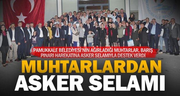 Pamukkale Belediyesi muhtarları unutmadı