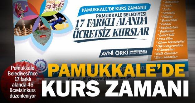 Pamukkale'de 17 farklı alanda 46 ücretsiz kurs