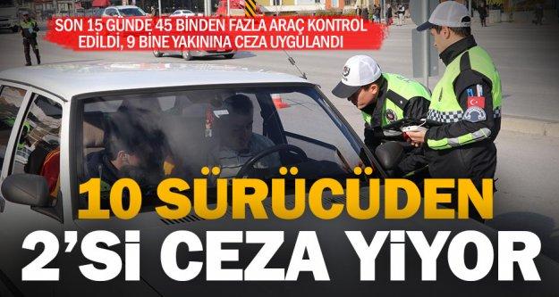 Trafik kontrollerinde araçların yüzde 20'sine ceza uygulandı
