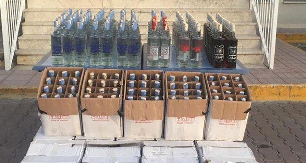 Turizm bölgesinde kaçak içki operasyonu