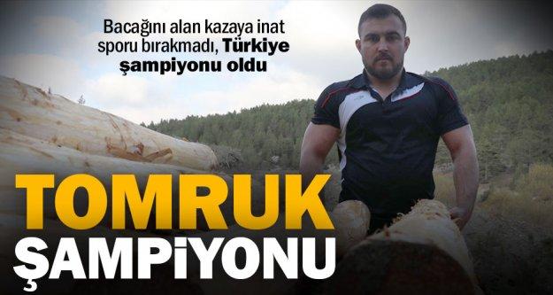 Bacağını kaybetmesine yol açan tomrukla çalışan halterci Türkiye şampiyonu oldu