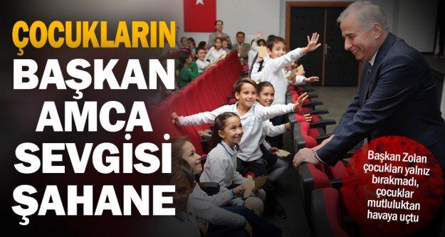 Başkan Zolan çocukları seçimde yalnız bırakmadı