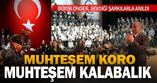 Büyükşehir'den 10 Kasım Konseri: Büyük Önder, sevdiği şarkılarla anıldı