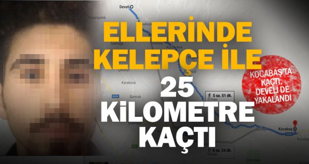 Cinsel istismar tutuklusu ellerinde kelepçe ile 25 kilometre kaçtı