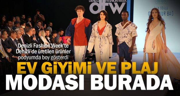 Denizli Fashion Week'te Denizli'de üretilen ürünler podyumda boy gösterdi