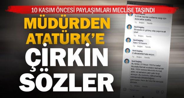 Denizlili müdürden Atatürk'e hakaret