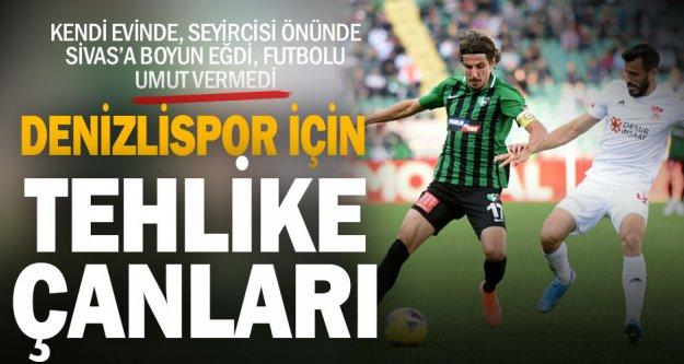 Denizlispor kendi evinde Sivasspor'a 2 golle boyun eğdi