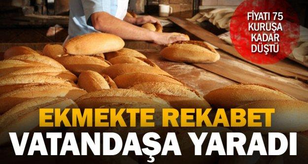 Ekmeğin fiyatı 75 kuruşa kadar düştü