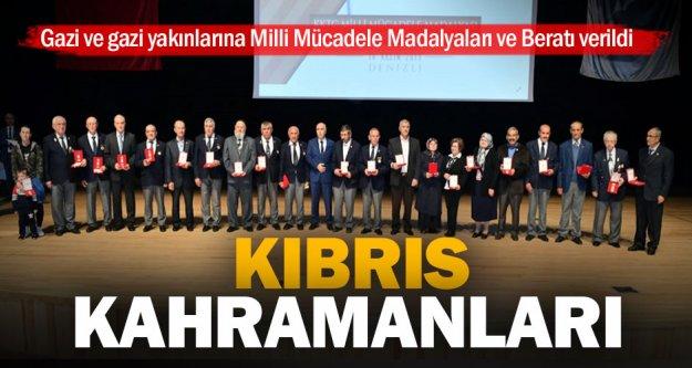 Kıbrıs gazilerine KKTC'den madalya ve berat