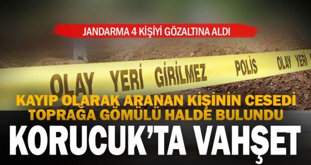 Korucuk'ta toprağa gömülü ceset bulundu